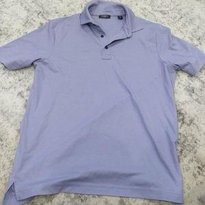 Saks Fifth Ave purple polo shirt
